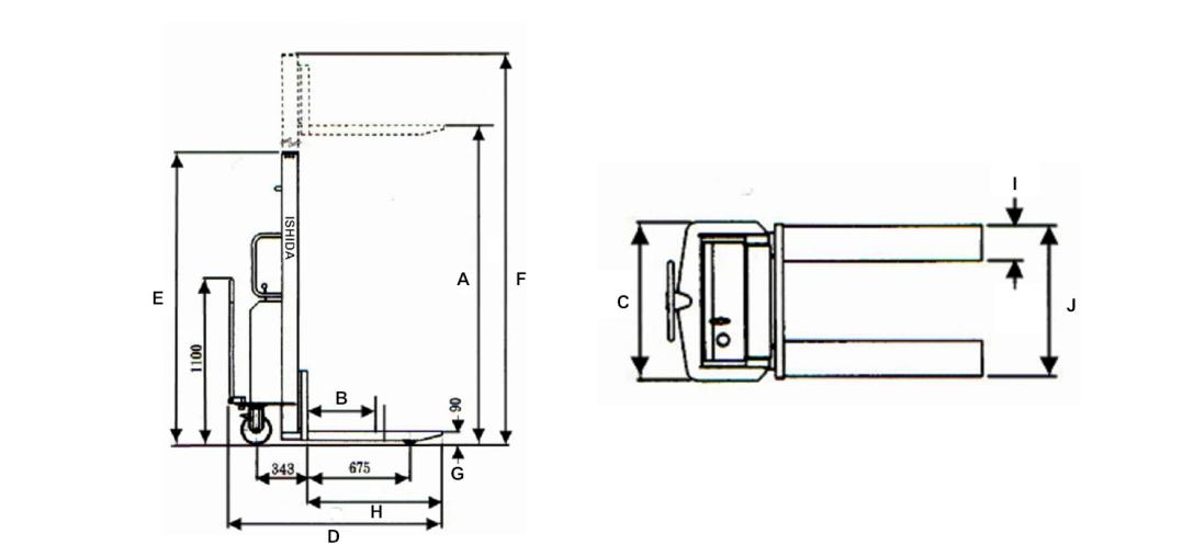 電動堆高機規格圖